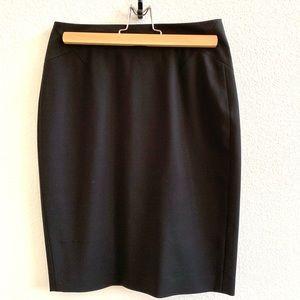 Ann Taylor Black Pencil Skirt Suiting Sz 0P